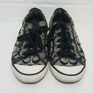 Coach tennis shoes grey and black